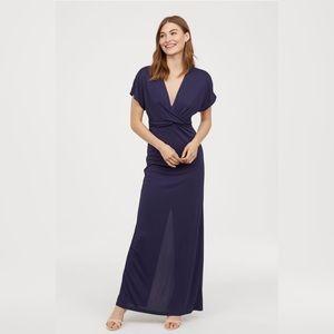 H&M Long Draped Dress